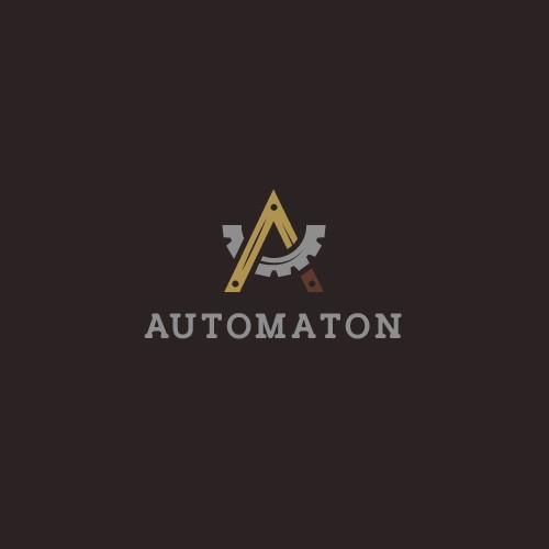 Creative logo design for a victorian/steampunk robot