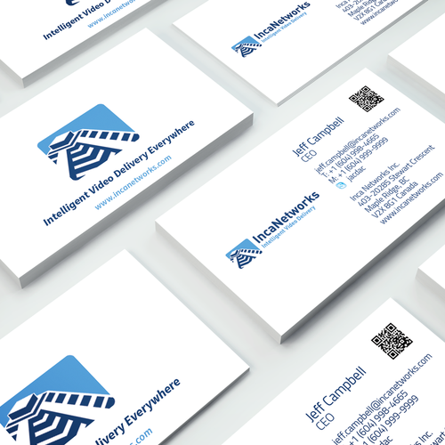 Create a color-popping business card for a TV tech company.