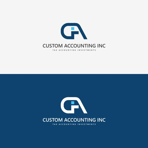 Logo concept for 'Custom Accounting'