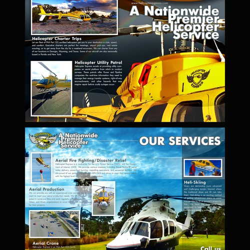 Helicopter Express Needs New Exciting Promotional BROCHURE