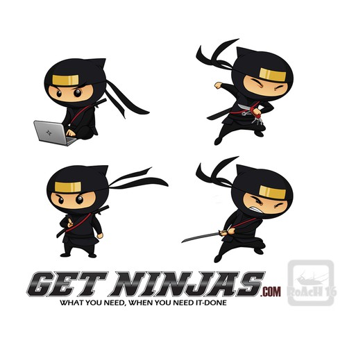Cartoon-style ninja mascot