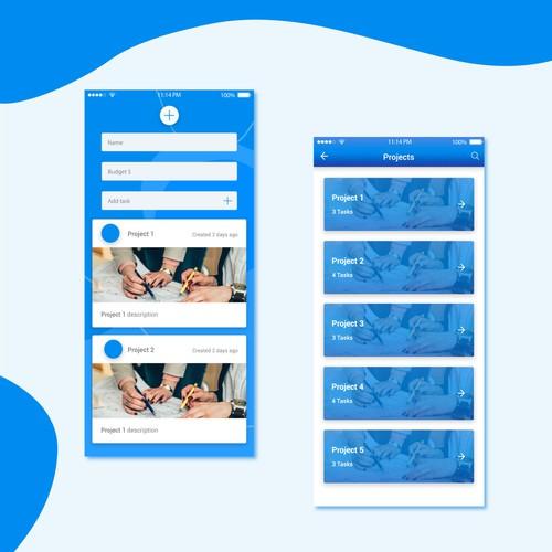 Project management app concept