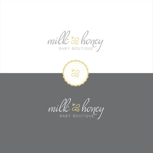 Create a logo that is modern, sleek yet playful for a luxury babyboutique.