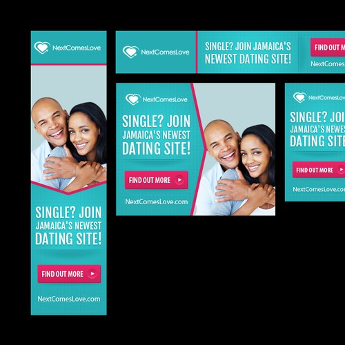 Create attractive, compelling banners for a brand new dating site!