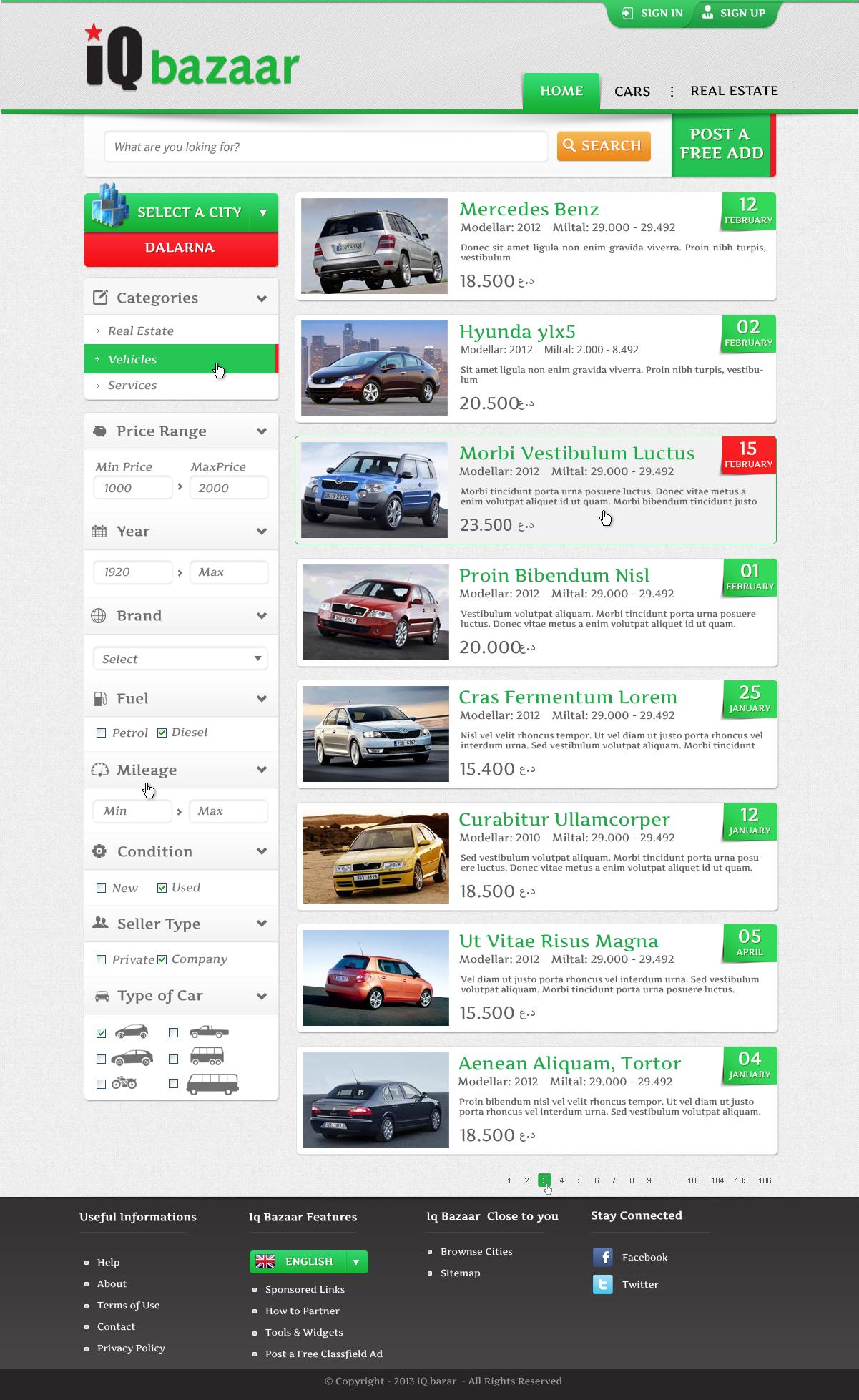 New website design wanted for iQ Bazaar