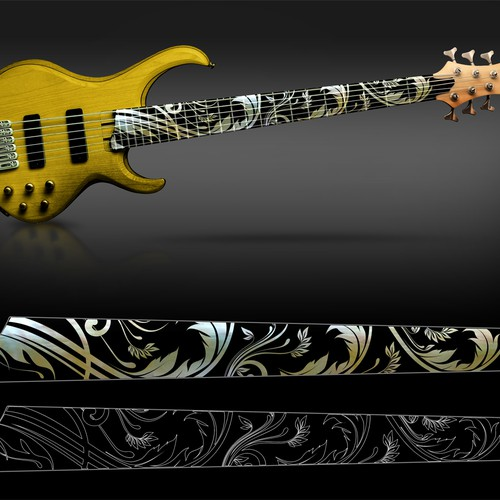 Design Neck Inlay for Custom 6-String Bass