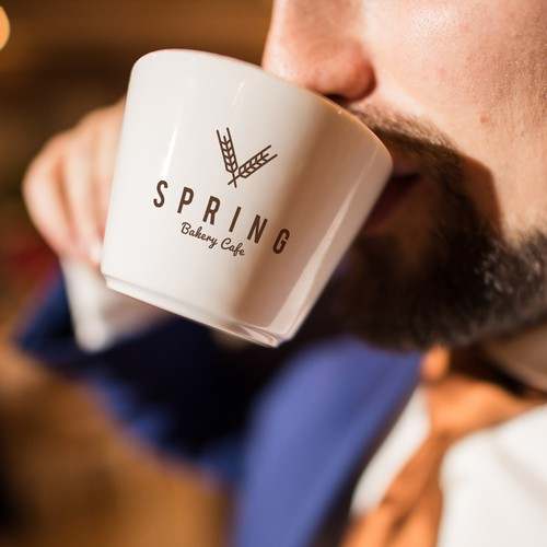 Logo Design for Spring Bakery Cafe