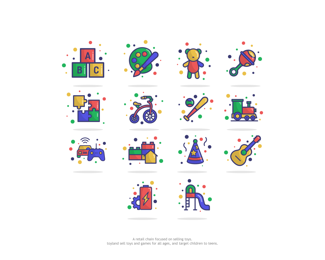 Toy Category Icon Design