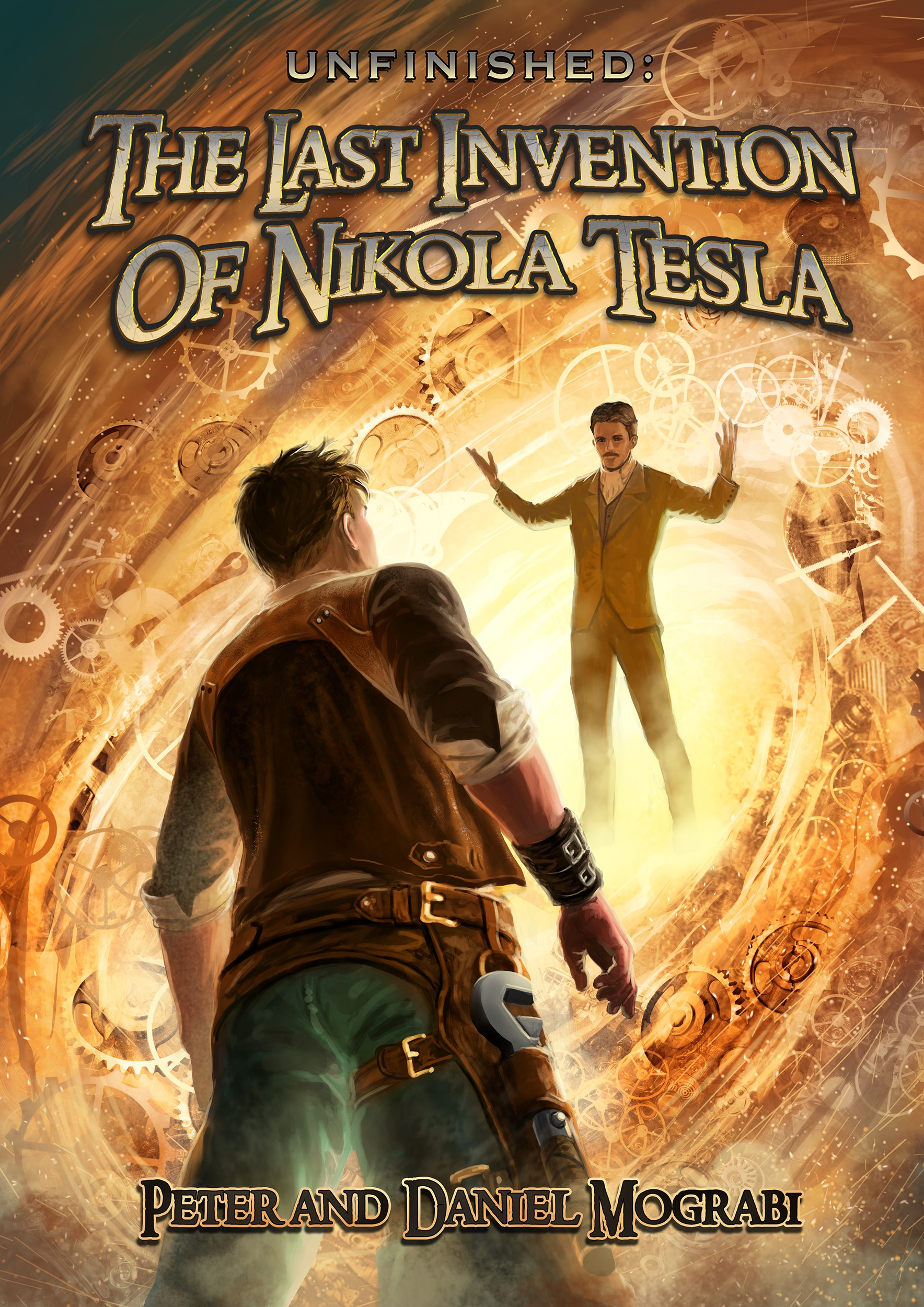 Finish the legacy of Nikola Tesla with a captivating book cover