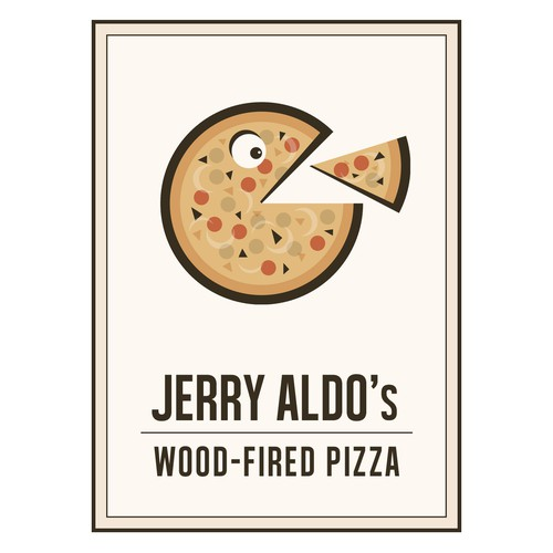 The logo for jerry aldo's wood-fired pizza