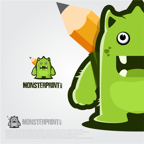 Fun Monster logo with bright color ^^