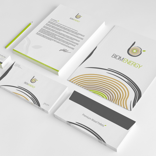 Create a brand identity pack for a Bio Fuel company - Biom Energy