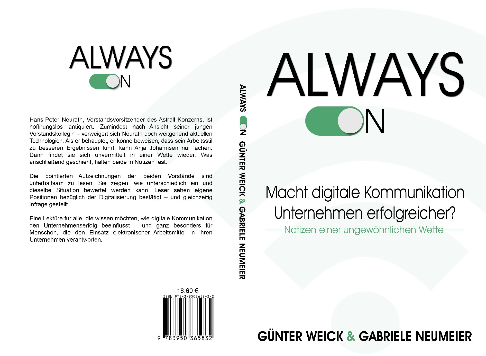 """design a cover for """"always on"""" suitable in a business environment"""