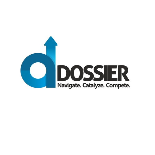 Create a logo for an innovative web interface tool called DOSSIER