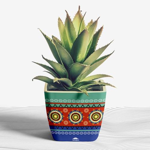 Flowerpot Pattern Design