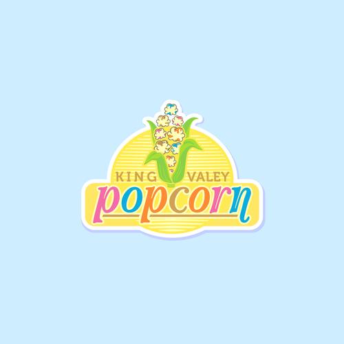 Popcorn logo by epiciconic