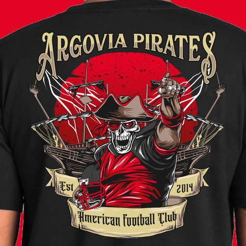 design tshirt for argovia pirates