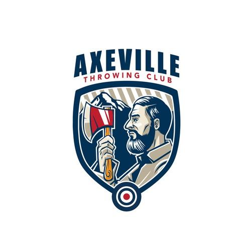 Logo for axe throwing club