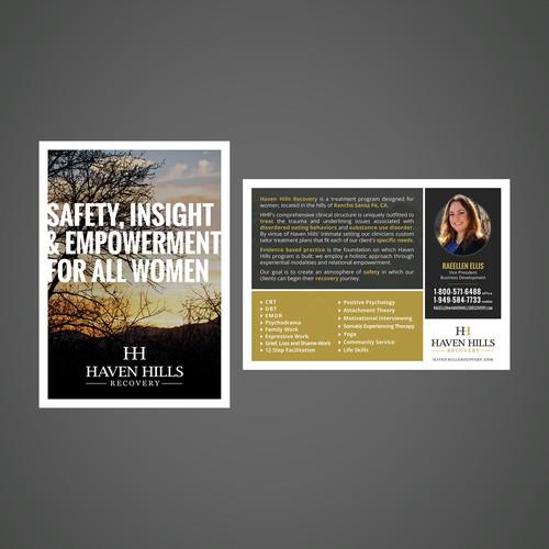 Flyer for a women treatment center