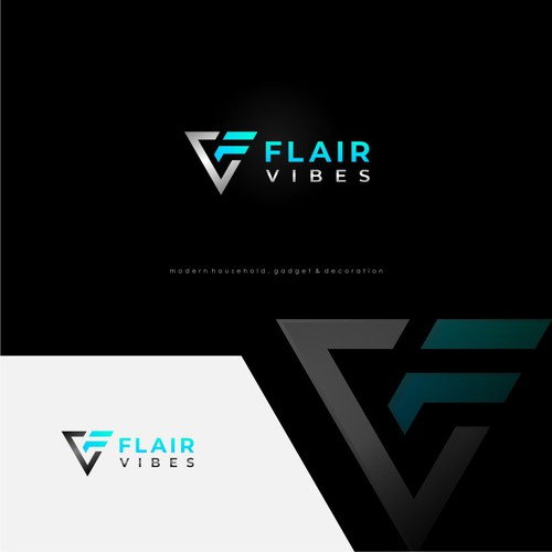 winning logo design for Flair Vibes