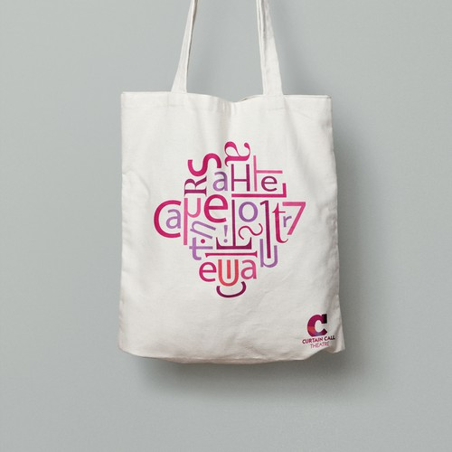Graphic for the Curtain Call Theatre tote bag