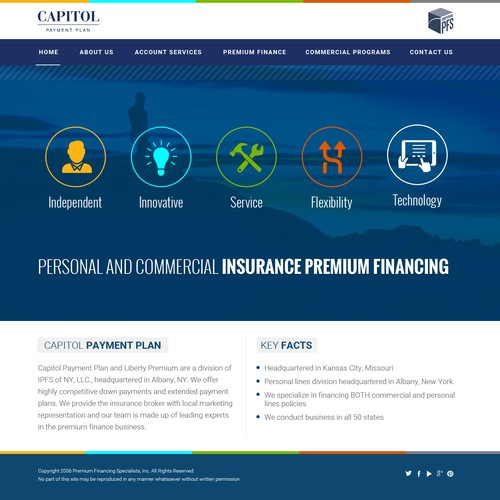 Insurance premium financing website