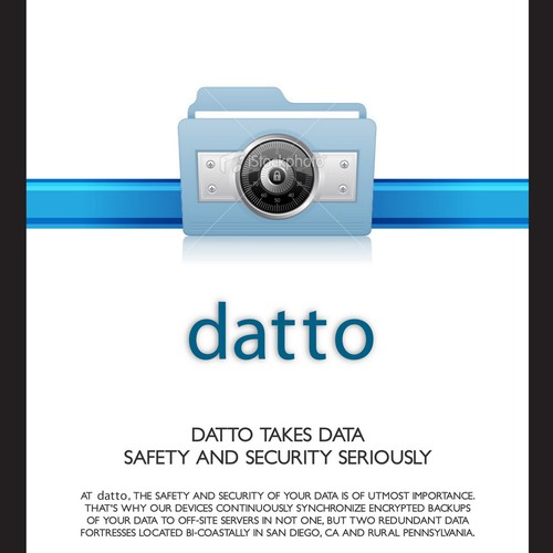 Brochure for data security company