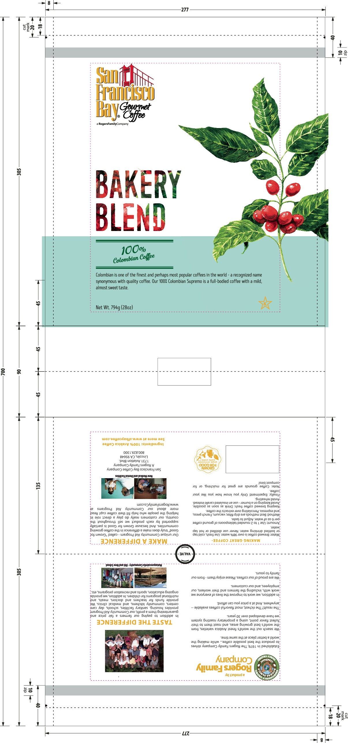 New dielines for coffee packaging