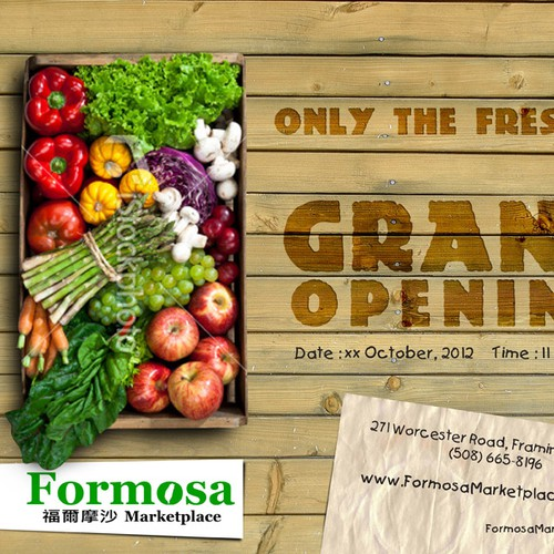 Flyer Study for Formosa Marketplace