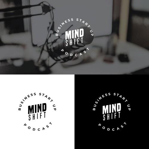 Logo concept for MindShift Podcast