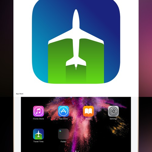 Travel Time iOS App Icon Concept