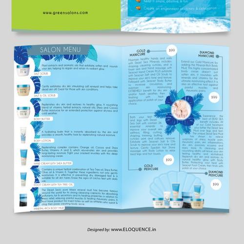 Secreat salon menu brochure