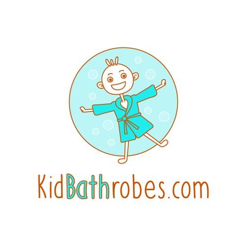 Kid's bathrobe logo