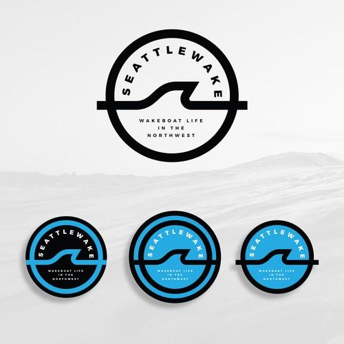 wakeboard/surf logo badge