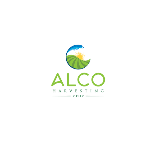 a clean fresh modern logo, for a rapidly growing produce harvesting company