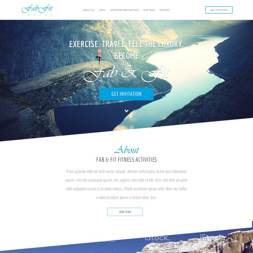 Design a Homepage for a Luxury Travel and Fitness Site