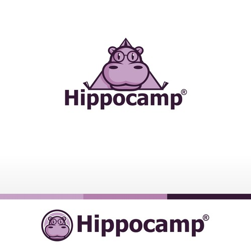 Create a clean, playful logo for mobile app and indie video game developer Hippo Camp Software