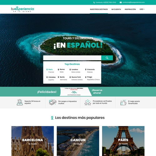 SearchBar and Heather redesign for Travel Website