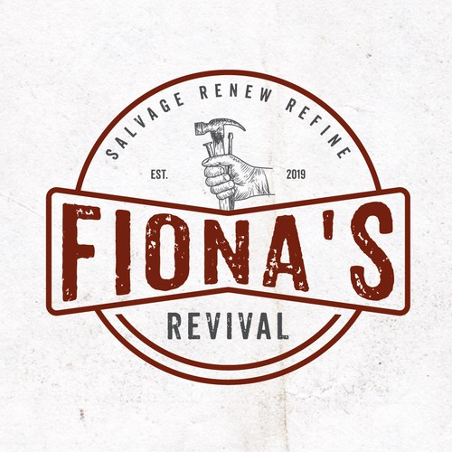 vintage  logo for fiona's