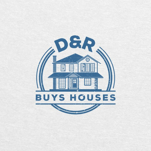 Logo for D&R buys houses