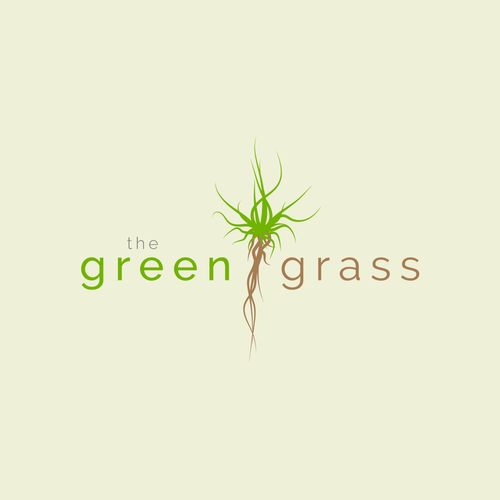 the green grass