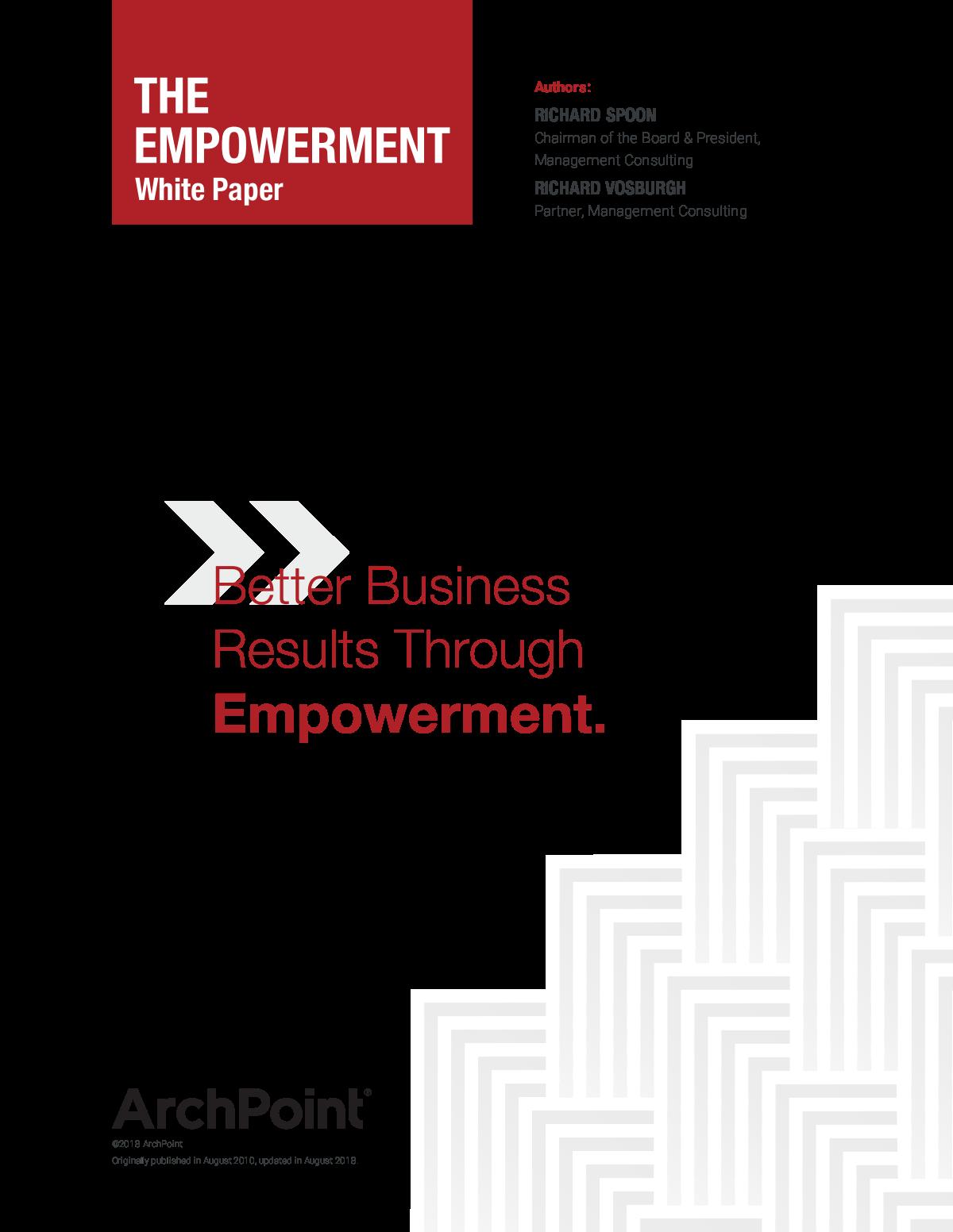Refresh of Empowerment Whitepaper