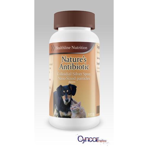 Health Supplement for Pets Label design