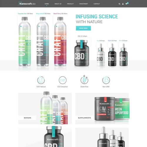 Website for presenting premium CBD infused products