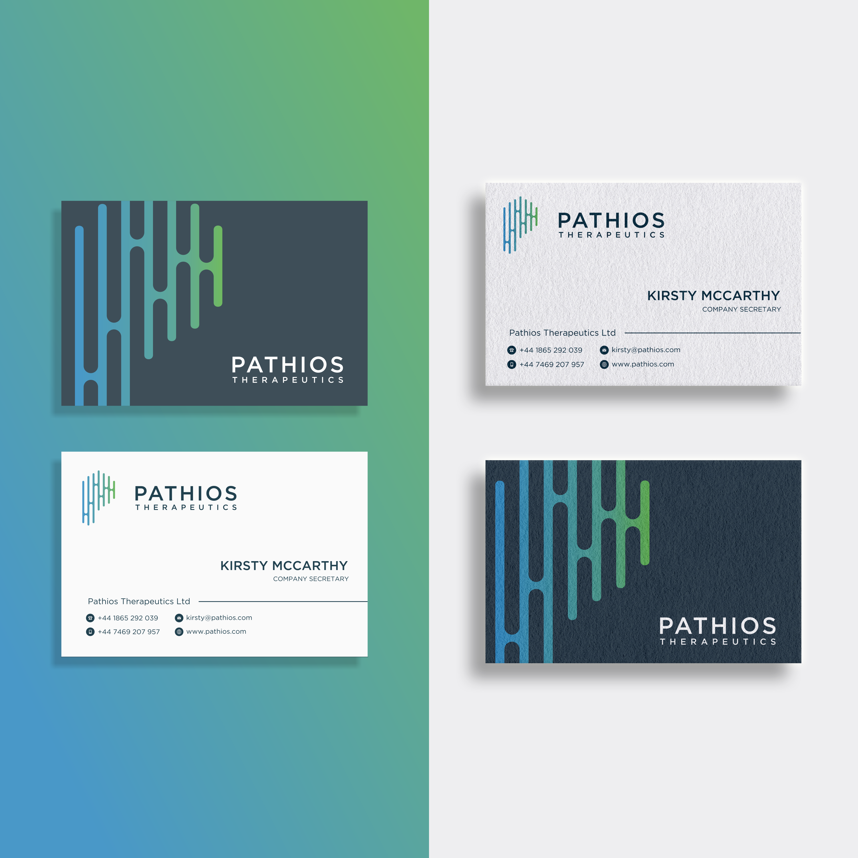 Changing a letterhead and business card template