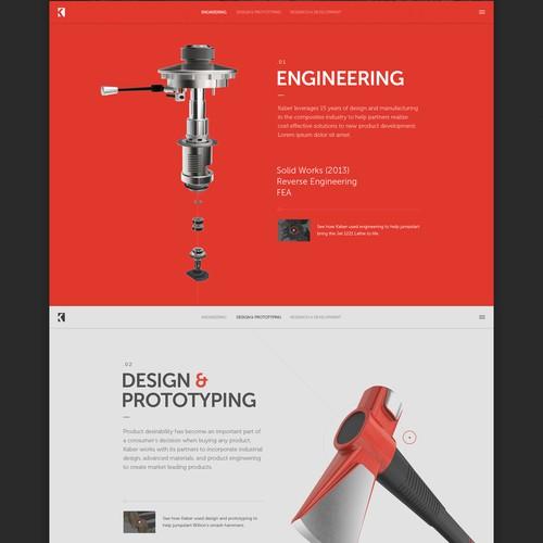 Kaber homepage design