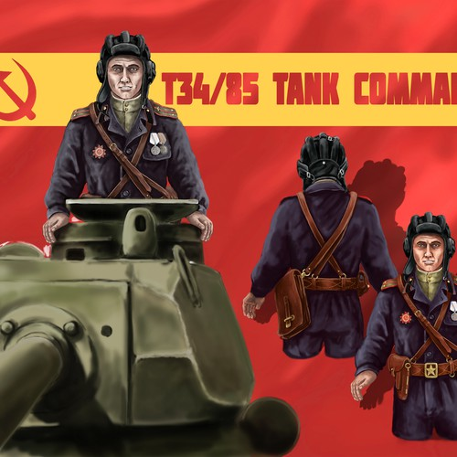 We need an illustration from an russia T34/85 tank commander. more projects will follow...