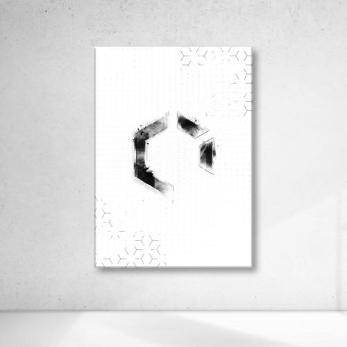 Abstract design for a sound design studio