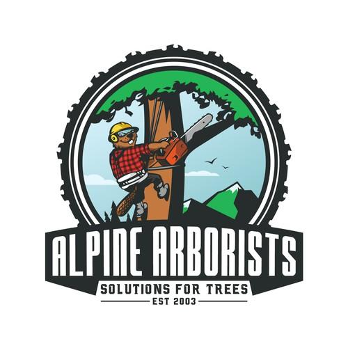Tree service logo for Alpine Arborists.