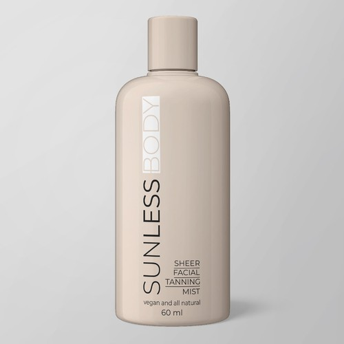 Tan Product Label Design